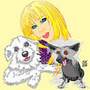 Lizzie And Dimey And Pinny Art Print