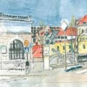Ljubljana - Dragon's Bridge Art Print
