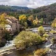 Llangollen And The River Dee Art Print