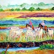 llanos Cowboys Art Print