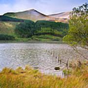 Llyn Cwellyn In Snowdonia National Park Towards M Art Print