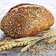 Loaf Of Multigrain Bread Art Print
