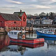 Lobster Boats At Motif 1 Art Print