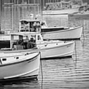 Lobster Boats In Bass Harbor And Bernard Maine  Art Print