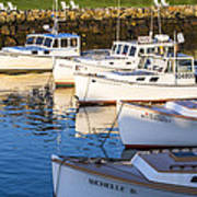 Lobster Boats - Perkins Cove -maine Art Print