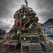 Lobster Trap Tree Art Print by Eric Gendron