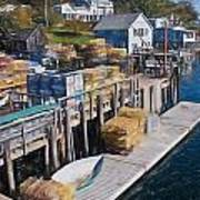 Lobster Traps At New Harbor Art Print