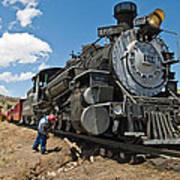 Locomotive Engineer Art Print
