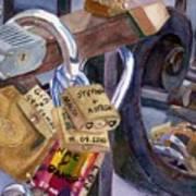Locks Of Luck Art Print