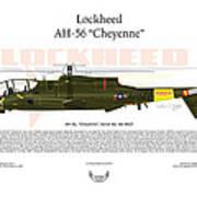 Lockheed Ah-56 Cheyenne Art Print by Arthur Eggers