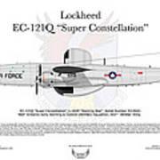 Lockheed Ec-121q Gold Diggers Art Print by Arthur Eggers