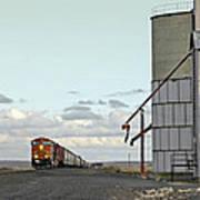 Locomotive And Silos Art Print