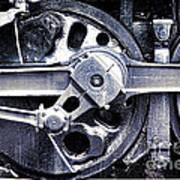 Locomotive Drive Wheels Print by Olivier Le Queinec