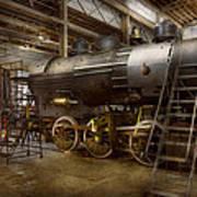 Locomotive - Repairing History Art Print