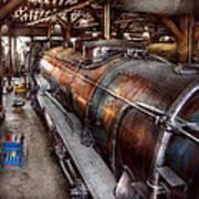Locomotive - Routine Maintenance  Art Print