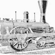 Locomotive Sandusky, 1837 Art Print