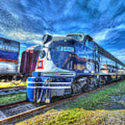 Locomotive Wabash E8 No 1009 Art Print
