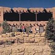 Lodge At Grand Canyon Art Print