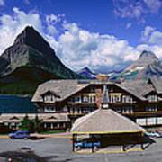 Lodge At Many Glacier, Glacier National Art Print