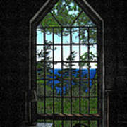 Lodge Window At The Clearing Art Print
