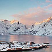 Lofoten Islands Winter Panorama Art Print