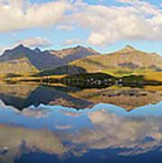 Lofoten Panorama Selfjorden Norway Art Print