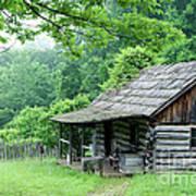 Log Cabin Fort New Salem Art Print