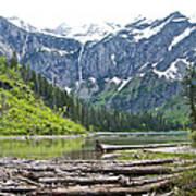 Log Jam In Avalanche Lake In Glacier Np-mt   Art Print