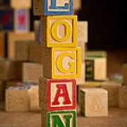 Logan - Alphabet Blocks Art Print