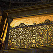 Loge Of The Sultan In Hagia Sophia  Art Print