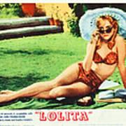 Lolita, Sue Lyon On Lobbycard, 1962 Art Print