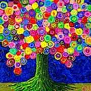 Lollipop Tree 2 Art Print