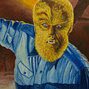 Lon Chaney Jr As Wolfman Art Print