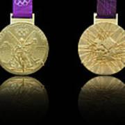 London 2012 Olympics Gold Medal Design Art Print