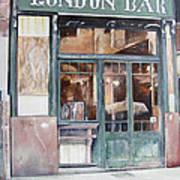 London bar-Barcelona Art Print