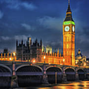 London - City Of Westminster And River Art Print