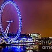 London Eye Night Glow Art Print