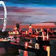 London Eye Night Art Print