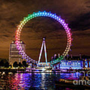 London Eye Pride Art Print