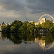 London - Illuminated And Reflected Art Print