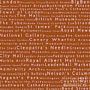 London In Words Toffee Art Print