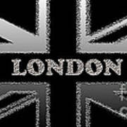 London Modern Union Jack Flag Art Print