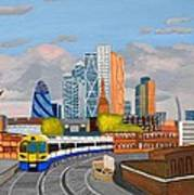 London Overland Train-hoxton Station Art Print