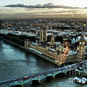 London - Palace Of Westminster Art Print