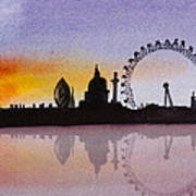 London Skyline At Sunset Art Print