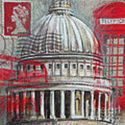 London St Paul's Dome Art Print