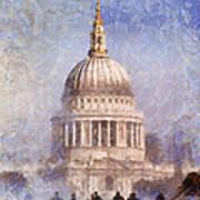 London St Pauls Fog 02 Art Print