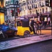 #london #street  #streetphoto #cars Art Print