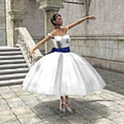 Lone Ballet Dancer Art Print