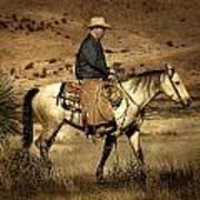 Lone Cowboy Art Print